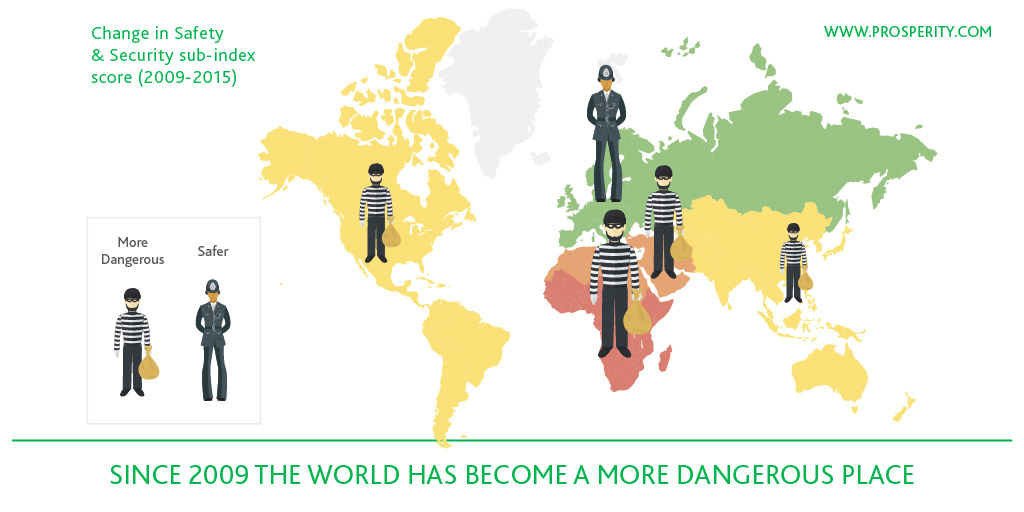 2015 Prosperity Index world map