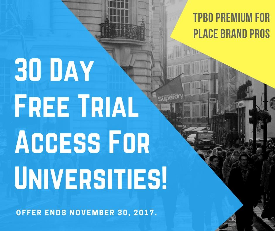 30 day offer premium access universities