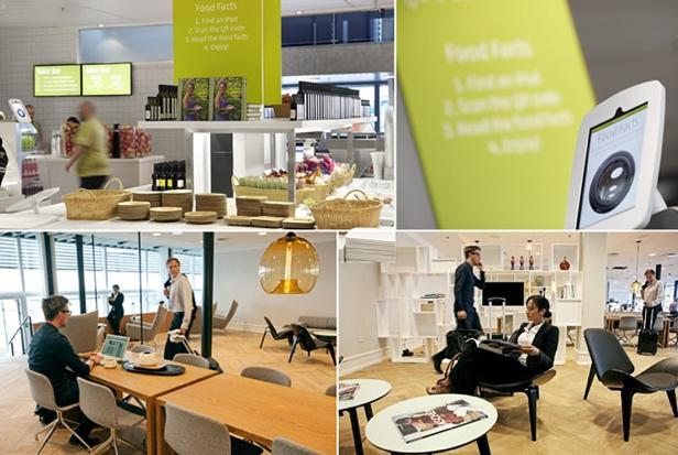Aeropuerto Copenhagen mercado de alimentos sentido de lugar