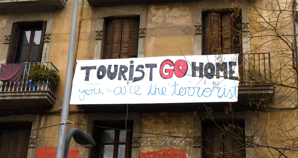 Barcelona unsustainable mass tourism protest