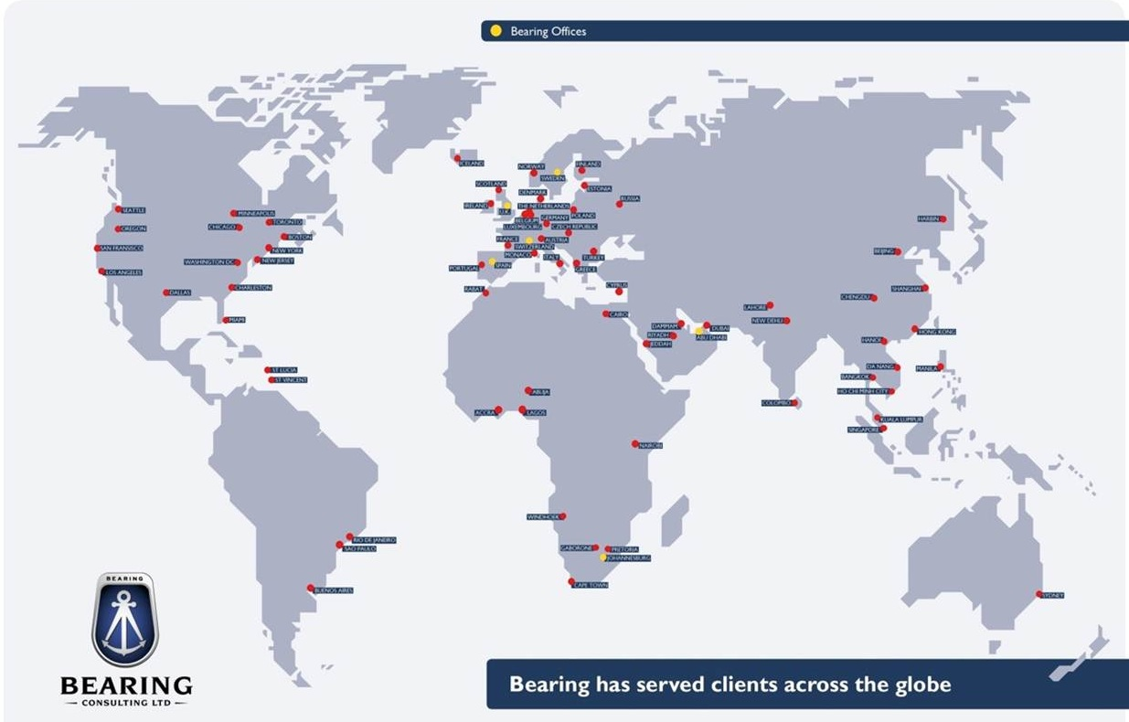 Bearing Consulting clients around the world