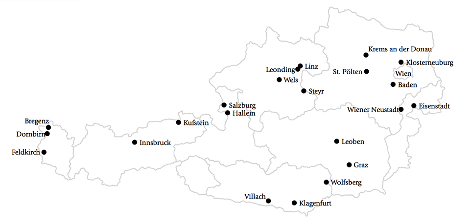 Cities in Austria