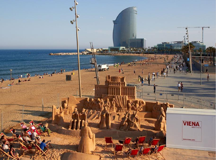 Ejemplo de branding de ciudad destino Viena en Barcelona