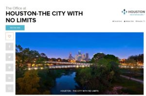 Houston city with no limits marketing