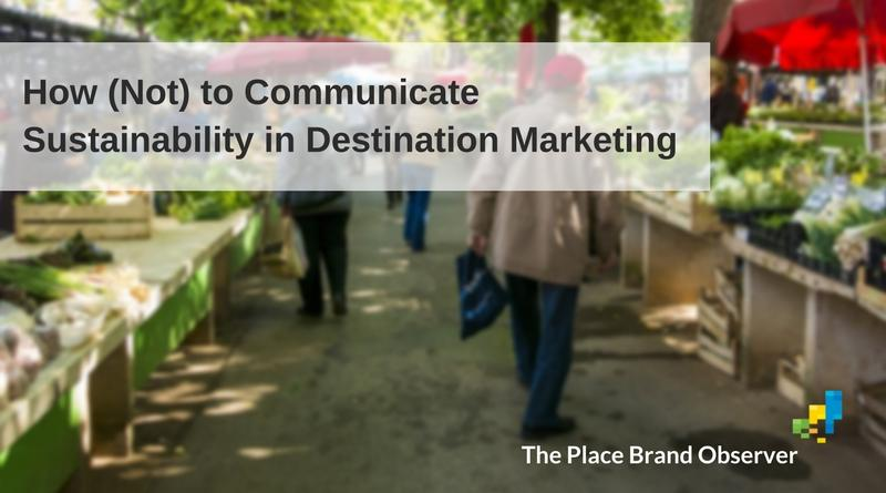 How to communicate sustainability in destination marketing