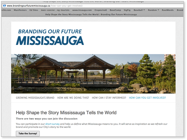 Invitation to participate in development of Mississauga city brand strategy