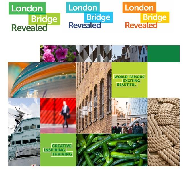 London Bridge place branding visual identity