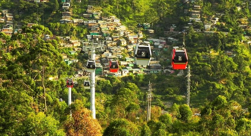Medellin Metrocable Cable Sky Car