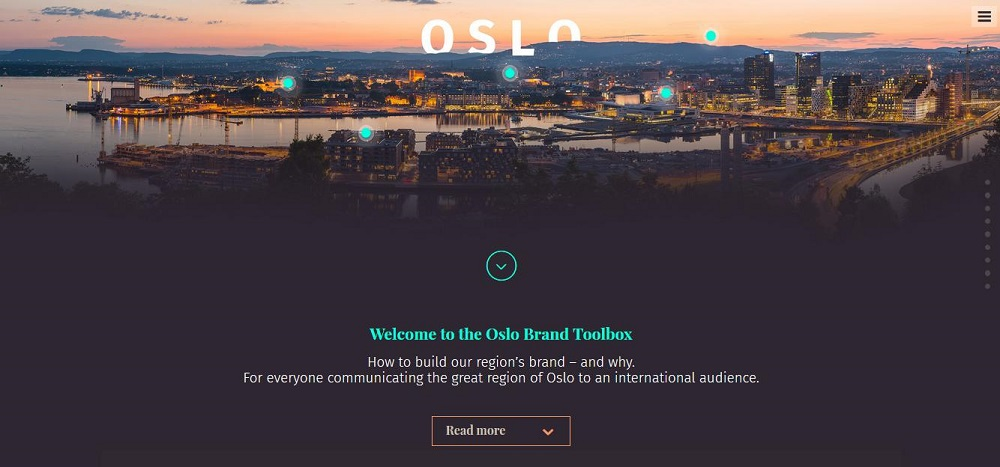 Oslo Brand Box website screenshot