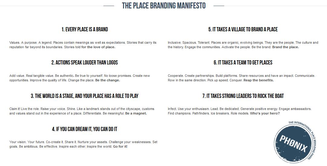Phonix place branding manifesto