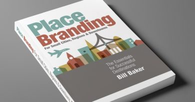 Place branding for small cities, regions, destination book by Bill Baker 2019
