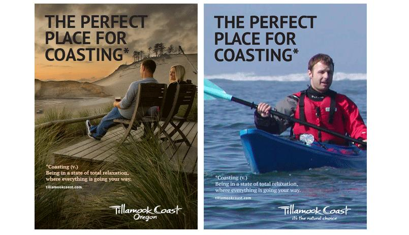 Tillamook Coast advertising by Axia Creative