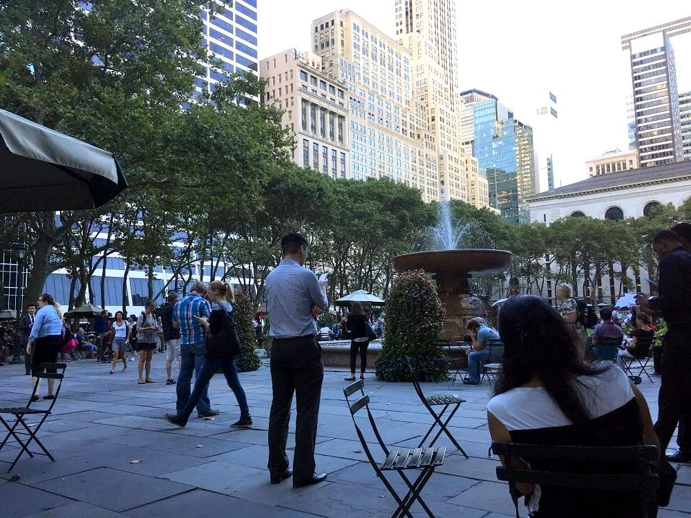 Use of public-private space - example New York City