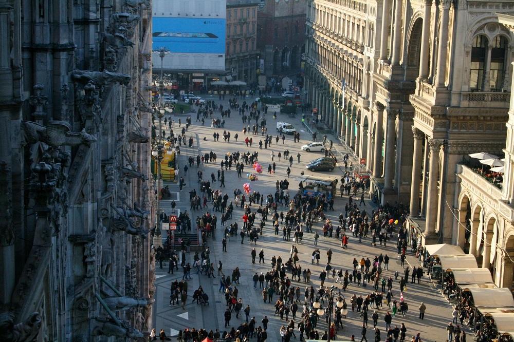 View from Milan Duomo
