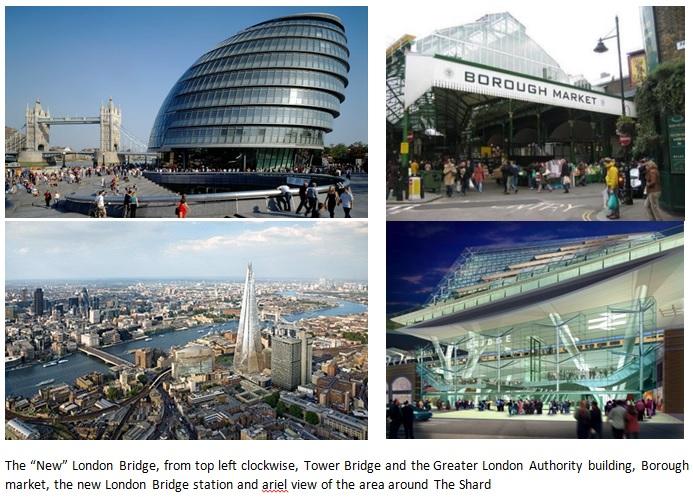 Views of London Bridge area today