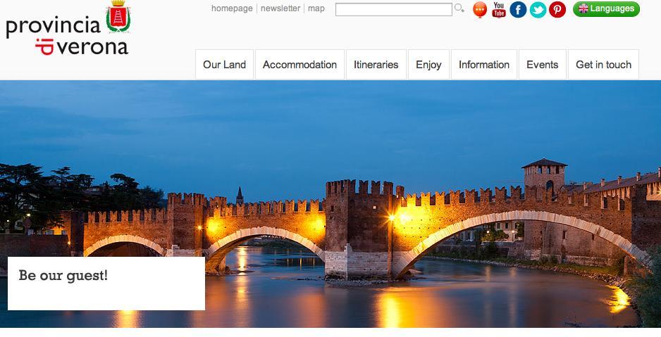 Website Verona destination marketing