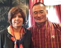 With PM Tshering Tobagy at the First Better Business Summit, Thimphu, 2014