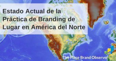 Estado actual branding de lugar en América del Norte