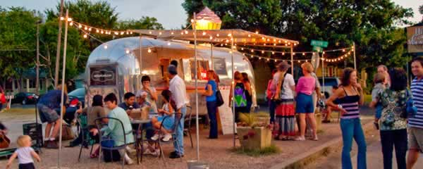 Food truck in downtown Austin - place making example