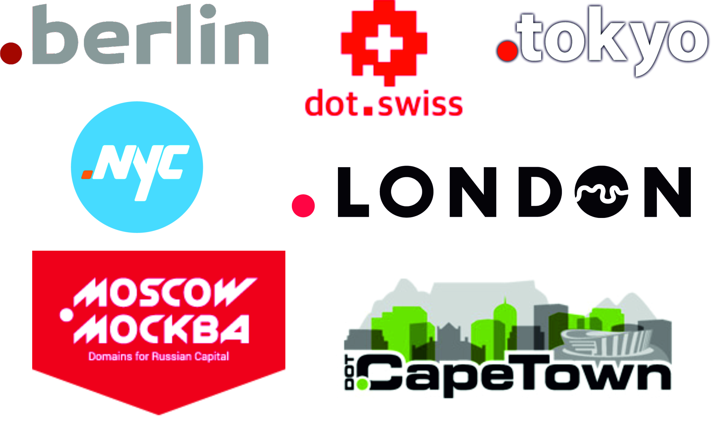 Examples of domain extensions for city marketing
