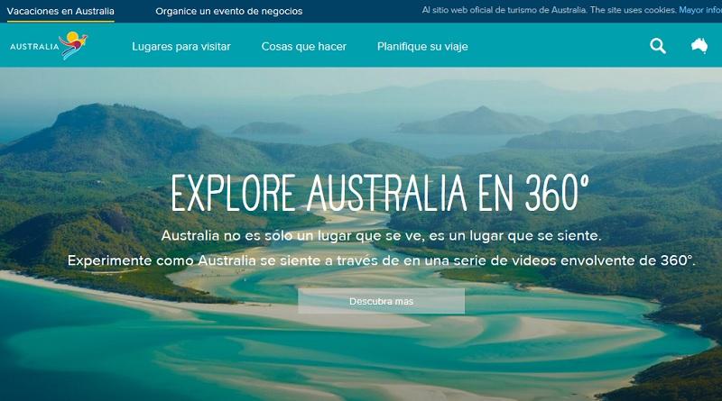 Sitio Web Destino Australia